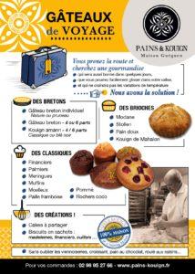 gâteaux de voyage : toujours aussi bons après quelques jours chez vous ou quelques heures dans une valise : brioches, gâteaux bretons, kouign aman, meringues, madeleines...